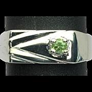 SALE 14k Demantoid Garnet Men's Ring, FREE SIZING