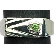 14k Demantoid Garnet Men's Ring, FREE SIZING