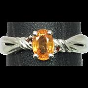 14k Mandaring Garnet Ring, FREE SIZING.
