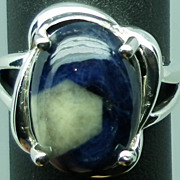 SALE 14kt Bi-color Sapphire Ring; FREE SIZING.