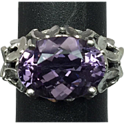 14k Amethyst Ring, FREE SIZING W-Y-R