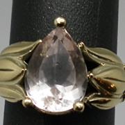 SALE Vintage 14kt Kunzite Ring.