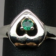 SALE NATURAL  Emerald Silver Ring,available in all sizes 3 to 13.