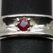 SALE Natural Ruby Silver Ring available in all sizes from 3 to 13.