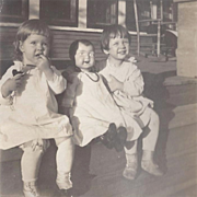 Three Vintage Doll and Girl Photographs