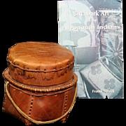 SOLD NATIVE AMERICAN INDIAN ALGONQUIN BIRCH BARK BASKET