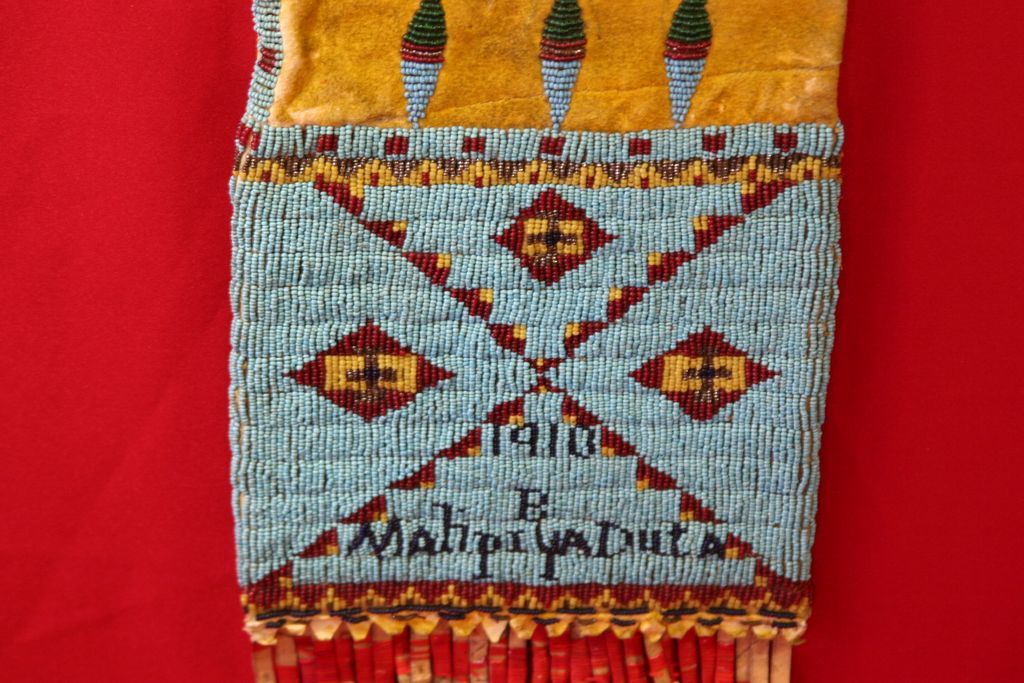 Antique Native American Beaded Pipe Bag, Sioux or Cheyenne