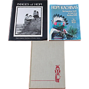 SOLD BOOK GROUP, NATIVE AMERICAN INDIAN HOPI KACHINA REFERENCE BOOKS
