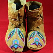 Native American Plateau Beaded Moccasins
