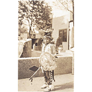 REAL PHOTO NATIVE AMERICAN BOY DANCER POSTCARD