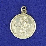 English Saint Christopher Silver Medal circa 1930