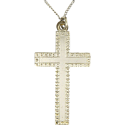 English Sterling Silver Cross & Chain