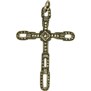 Swedish Sterling Silver Marcasite Cross