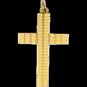 English 9K Rose Gold Cross - Hallmarked 1931