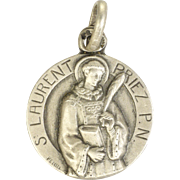 French St Laurent Silver Medal or Charm