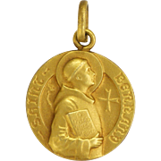 French St. Bernard Gold Filled Small Medal or Charm