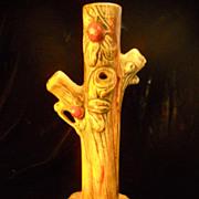 Weller Woodcraft Three  Branch Vase