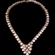 Art Deco Sterling Open Back Crystal Necklace