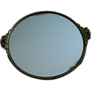 Vintage French Bow Mirror Vanity Tray