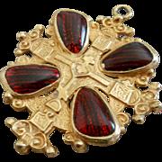 Accessocraft Renaissance Poured Glass Religious Pendant