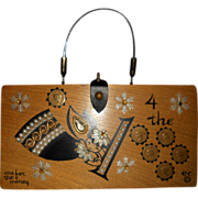 """Vintage Collins of Texas Box Bag """"one for the money"""""""
