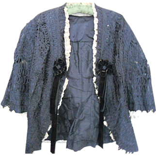 SALE Victorian Mourning Lace Jacket