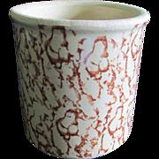 Robinson Ransbottom Pottery Brown Spongeware Crock (Roseville, Ohio)