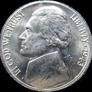 1943 D Jefferson Wartime Silver Alloy Nickel