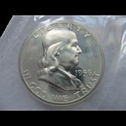 1956 Proof Franklin Silver Half Dollar