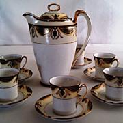 SOLD Noritake Chocolate Pot Set-Mystery Pattern # 13-RARE