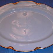 """SALE 11"""" Serving Platter Haviland Limoges Silver Anniversary Pattern Schleiger 19"""