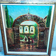 """Sacred Garden"" at Mission San Juan Capistrano by Tess Razalle Carter"