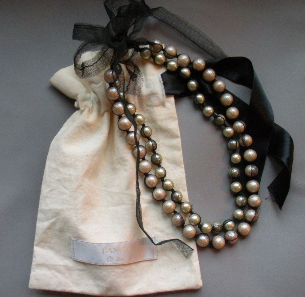 Lanvin Pearl Necklace: RL-125.2L.jpg?3