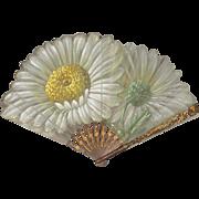 Antique French Art Nouveau Daisy Fan Eventail Signed Tutin C.1900-1910 Original FAUCON PARIS B