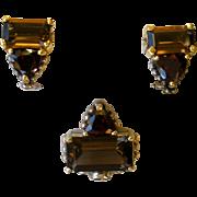SALE Lagos Caviar Smokey Quartz & Garnet Pendant Enhancer and Earrings