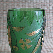 """Delaware"" Pattern Glass Vase"