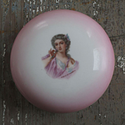 Limoges Portrait Powder Box