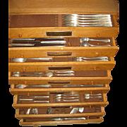 German 800 Silver ~ POSEN SILVERWARE SET ~ 211 Pc Flatware Approx. 10,522 Grams