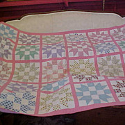 SOLD Vintage 1940s Hand Sewn Quilt