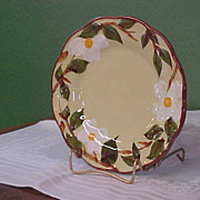 Vintage Hand Painted Stangl White Dogwood Bread Plate