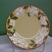 Vintage Hand Painted Stangl White Dogwood Salad Plate