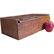 Rare 1930s Wooden Planters Chocolate and Nut Factory Box