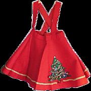 SOLD Precious Child's 1950s Christmas Felt Circle Skirt