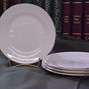 Elegant Wedgwood Silver Ermine Bread Plates
