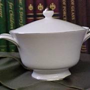 Elegant Wedgwood Silver Ermine Covered Vegetable Bowl