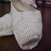 Vintage Crochet Doll/Preemie Shoes