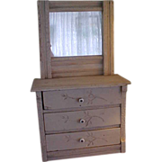Old Fashioned Eastlake Doll Dresser with Milk Paint
