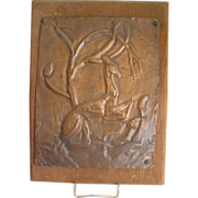 SOLD Charming Hand-Crafted Pressed Copper Deer