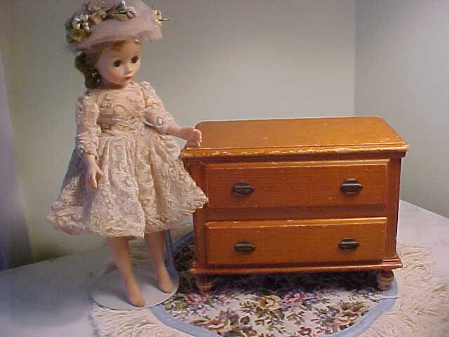 Darling Vintage Wooden Doll Dresser