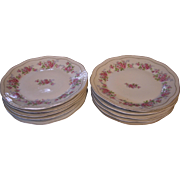 Set of 8 Z.S. & Co Scherzer Bavaria Luncheon Plates with Roses